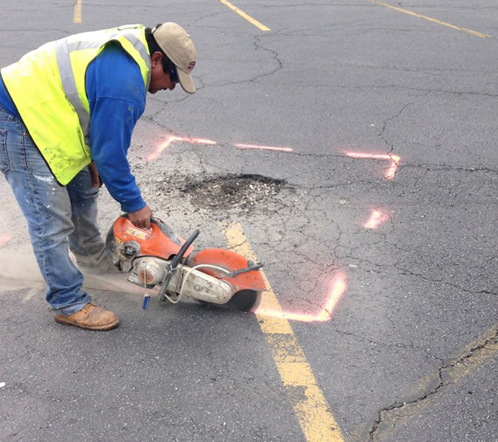 Peachtree Corners asphalt pothole repair