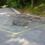 Sawcutting asphalt repair