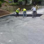 Hot asphalt pothole repair