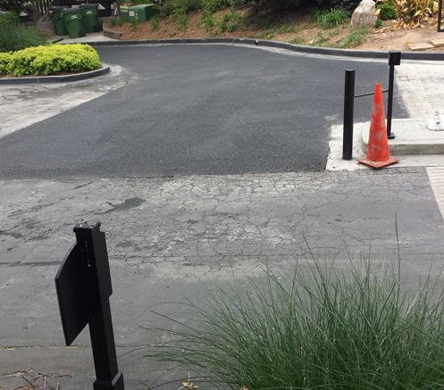 New asphalt installation
