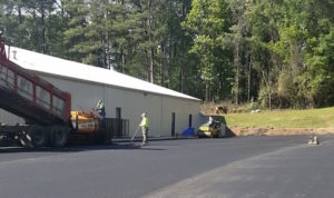 asphalt paving maintenance crew