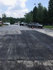 asphalt paving roadwork