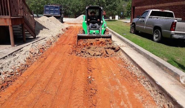 leveling dirt pre asphalt