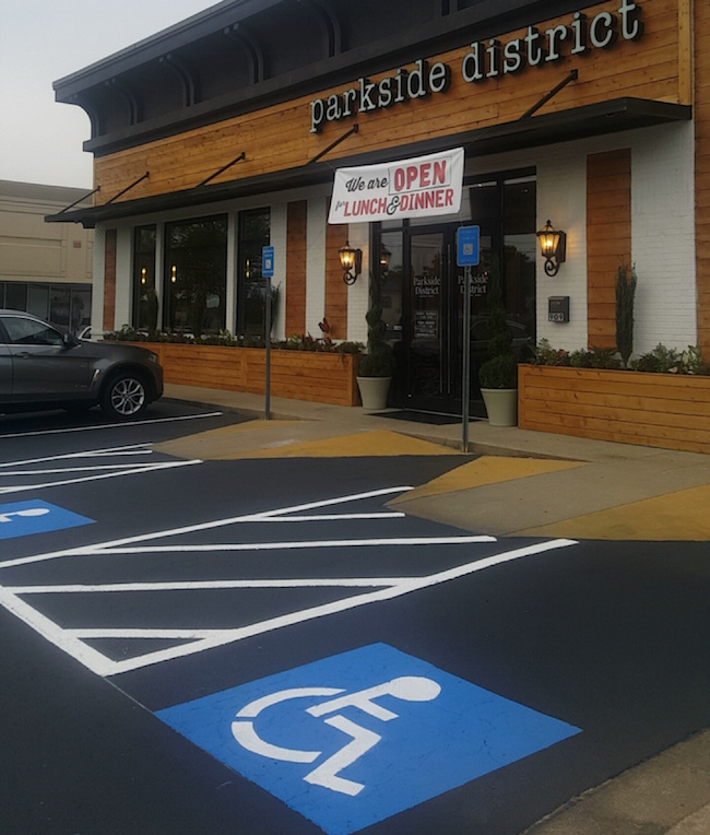 parkside district handicap parking spot